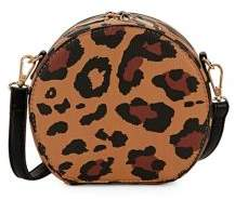 Design Lab Leopard-Dot Circle Crossbody