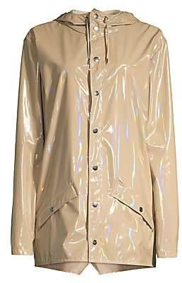 Rains Women's Waterproof Holographic Jacket