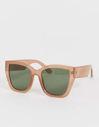 Asos Design DESIGN oversized 70's square sunglasses