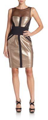 BCBGMAXAZRIAReina Sequin Illusion Dress