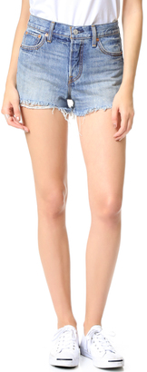 Levi's High Rise Wedgie Shorts $58 thestylecure.com