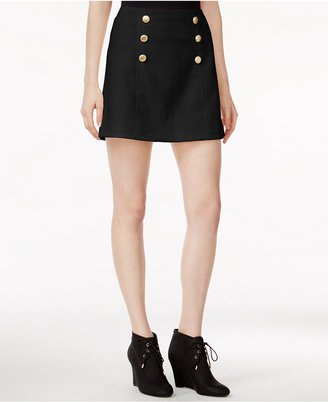 kensie Quilted Button-Detail Skirt $59 thestylecure.com