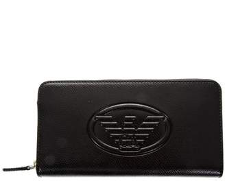 Emporio Armani Black Frida Faux Leather Wallet