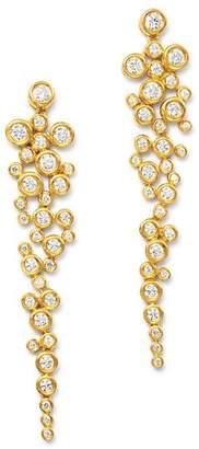 Bloomingdale's Diamond Cascade Bezel Set Drop Earrings in 14K Yellow Gold, 1.25 ct. t.w. - 100% Exclusive