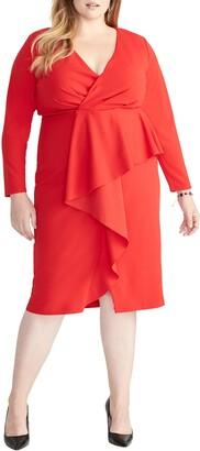 Rachel Roy Ruffle Front Faux Wrap Dress