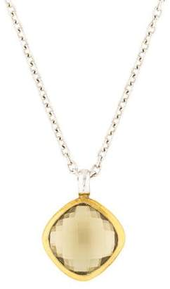 Gurhan Quartz Brandy Hue Pendant Necklace