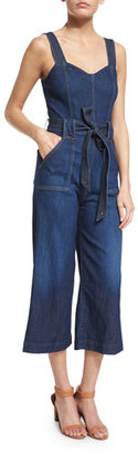 7 For All Mankind Sleeveless Wide-Leg Cropped Jumpsuit, Saint Tropez Night $298 thestylecure.com