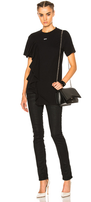 OFF-WHITE Ruffle Tee $410 thestylecure.com