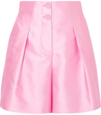 Giorgio Armani Pleated Silk-blend Satin Shorts - Pink