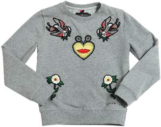 John Richmond Embroidered Cotton Sweatshirt