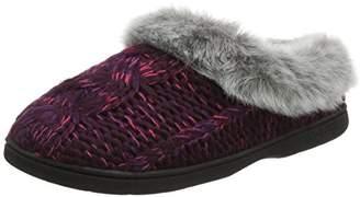 Dearfoams Women's Chunky Novelty Knit Clog with Memorry Foam Low-Top Slippers,9-10 Uk (42-43 EU)