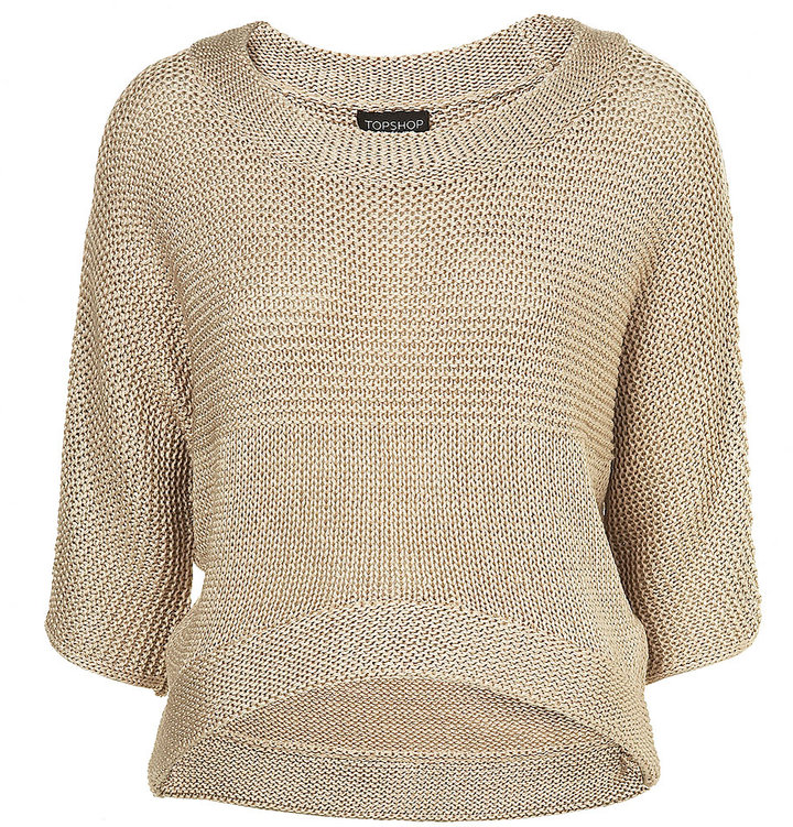 Knitted Curved Crop Jumper