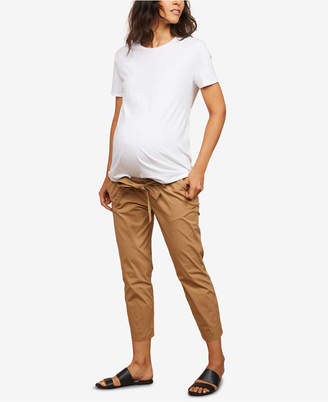 Motherhood Maternity Belted Cropped Pants