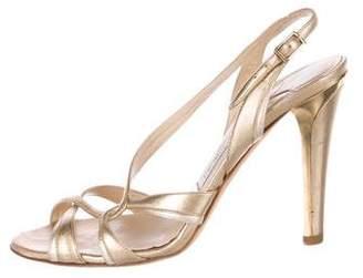 Jimmy Choo Leather Mid-Heel Sandals