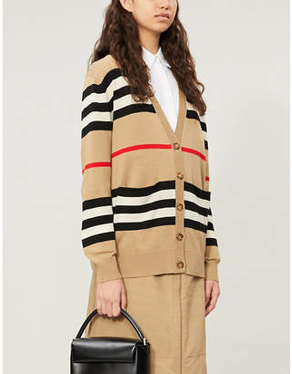 Burberry Icon Stripe merino-wool cardigan