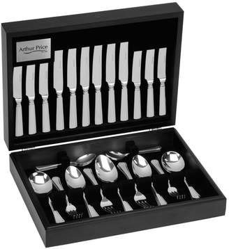 Arthur Price 'Grecian' 18/10 Stainless Steel 44 Piece 6 Person Canteen Cutlery Set For Luxury Home Dining