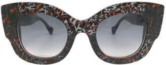 Fendi Black Plastic Sunglasses
