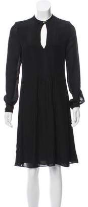 Calvin Klein Collection Long Sleeve Pleated Dress