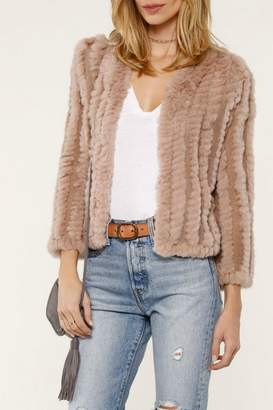 Heartloom Blush Fur Jacket