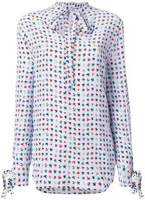 Equipment flower print blouse