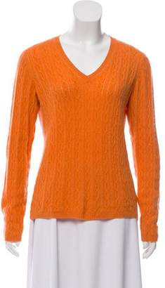 Kinross Cashmere Cashmere Cable Knit Sweater