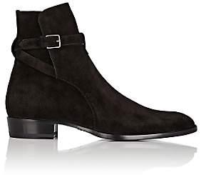 Saint Laurent Men's Suede Jodhpur Boots-Black