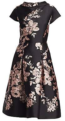 Teri Jon by Rickie Freeman Women's Floral Fit-and-Flare Dress