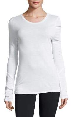 Sam Edelman Mesh Long-Sleeve Tee