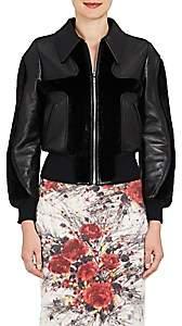 Prada Women's Leather & Mink Fur Jacket - Black