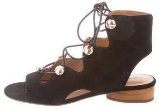 Rebecca Minkoff Suede Open-Toe Sandals