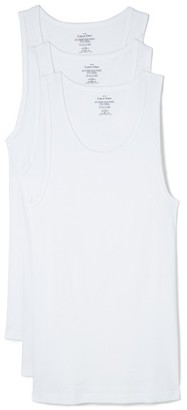 Calvin Klein Underwear Cotton Classic 3 Pack Ribbed Tanks $39.50 thestylecure.com