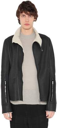 Rick Owens Shearling Leather Jacket