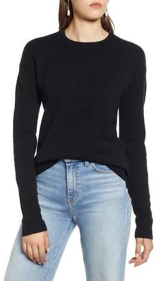 Halogen Crewneck Wool Blend Sweater (Regular & Petite)