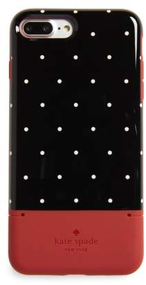 Kate Spade dot iPhone 7/8 Plus case & card holder