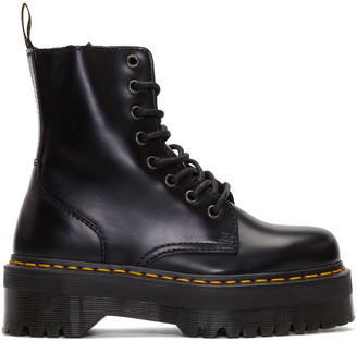 Dr. Martens Black Eight-Eye Jadon Boots $170 thestylecure.com