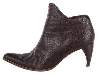 Henry Beguelin Floral Leather Boots