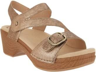 Dansko Leather Asymmetrical Adjustable Sandals - Shari