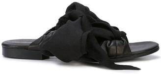 Yohji Yamamoto bias ribbon sandals