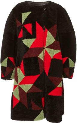 Isabel Marant Aban Graphic Shearling Coat