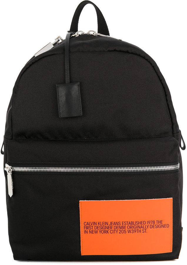 Calvin Klein original patch backpack