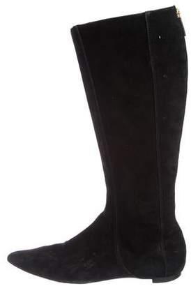 Oscar de la Renta Suede Pointed-Toe Boots