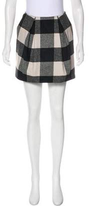 Zac Posen Plaid Mini Skirt