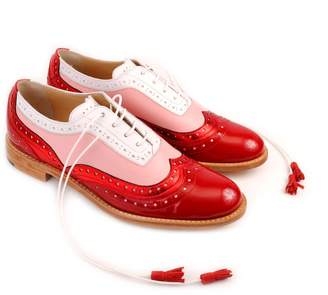 Abo Red Pink & White Dolly Brogues
