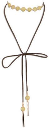 Jones New York Semi-Precious Long Choker Necklace