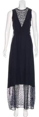 Jenni Kayne Lace-Accented Maxi Dress