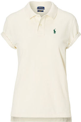 Polo Ralph Lauren Boyfriend Cotton Mesh Polo $98.50 thestylecure.com