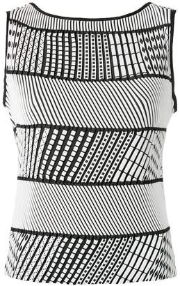 Issey Miyake striped sleeveless top
