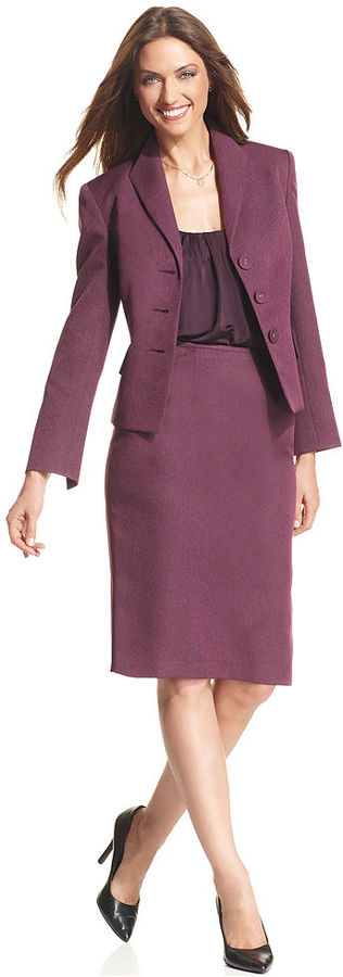 Evan Picone Suit, Tweed Jacket & Skirt