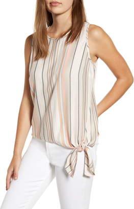 BeachLunchLounge Stripe Side Tie Sleeveless Blouse