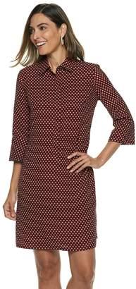 Dana Buchman Women's Hidden Placket Shirt Dress